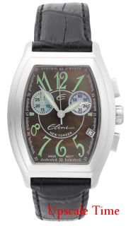 any questions 1 800 501 0892 elini new yorker mens chronographic watch
