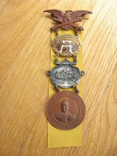 Civil War Gar Veteran Encampment Medal Toledo Ohio