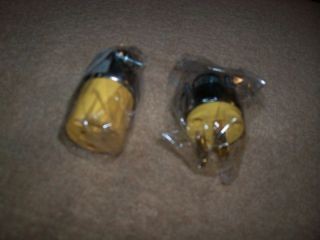 Pair Heavy Duty Extension Cord Plug Ends