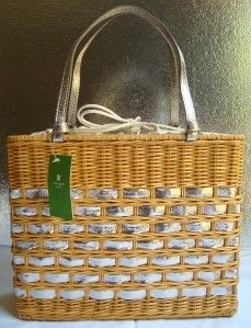 nwt kate spade edgartown quinn wicker purse bag