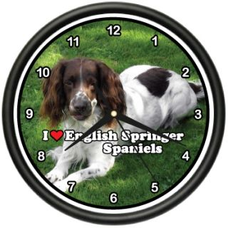 English Springer Spaniel Wall Clock Dog Pet Dogs Gift