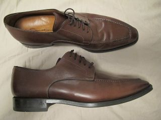 Mens Santoni Elliston Brown Oxfords Shoes 9 5 D