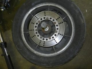 Kawasaki KZ1300 KZ 1300 Touring Rear Wheel Rim Tire Hub Axle Disk