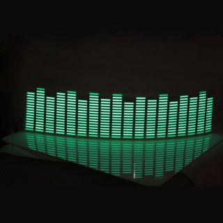 Music Activated Sensor Green LED Light Equalizer Glow 18 12V