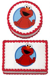 ELMO EDIBLE CAKE IMAGE ICING SHEET PARTY TOPPER BIRTHDAY MORE