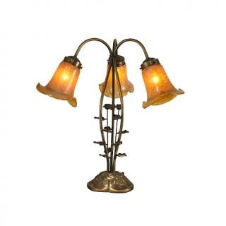 Dale Tiffany 3 Light Gold Tulip Desk and Table Lamp