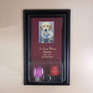 Pet Memorial Picture Frame with Eng and Display Case Dog Memorial Cat
