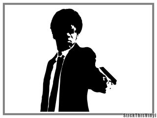 Pulp Fiction Samuel Jackson Portrait Decal Sticker 2X