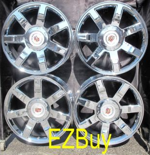 ESCALADE FACTORY NEW CHROME WHEELS RIMS 5309 WITH FACTORY CENTERCAPS