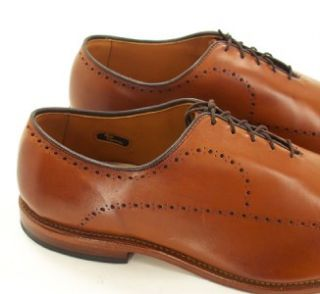 070M Mens Allen Edmonds Fairfax Rust Leather Lace Up Oxfords Sz 12 Eee