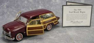 Mint 1 24 Scale Die Cast Model Car 1949 Ford Woody Wagon w COA