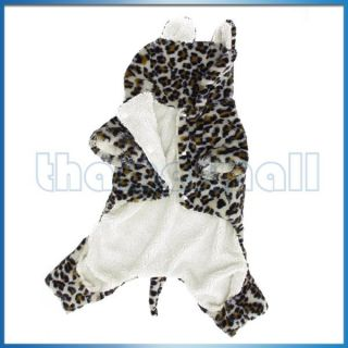 accessories superstore fashion pet dog leopard hoodie hooded coat