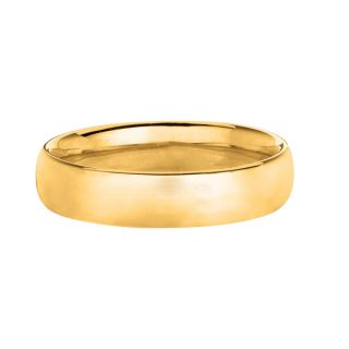 4mm Comfort Silk Fit Plain Wedding Band Ring Genuine 14k Yellow Gold
