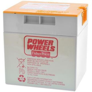 Genuine Fisher Price Power Wheels 12 Volt Battery for Jeep Hurricane