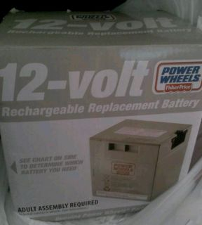 Fisher price power wheels 12 volt rechargeable replacement battery