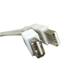 to Female M F Extension Cable Cord Connector 0 3M 1ft White