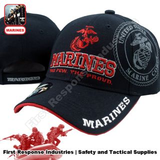 USMC MARINES The Few The Proud Marine Semper Fi Black Hat Cap