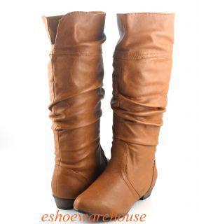 Cutie Urban Chic Comfy Slouch Flat Knee Boots Fixed Cuff