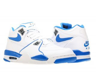 Nike Air Flight 89 White Soar Blue Grey Mens Basketball Shoes 306252