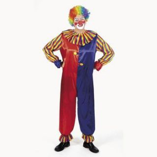 Adult Clown Costume Circus Carnival Birthday Party New