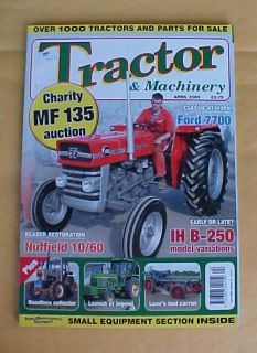 TRACTOR MACHINERY MAGAZINE APRIL 2009 FARM EQUIPMENT RESTORATION FORD