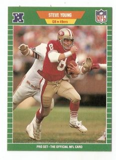 1989 Steve Young Pro Set Football Trading Card 388