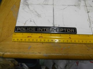 Ford Crown Victoria Police Interceptor Rear Emblem