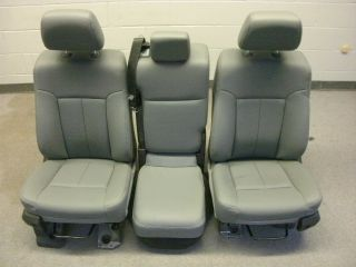 Ford F 550 Super Duty gray vinyl seats center console F 250 350 450 99