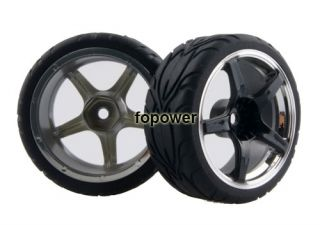 4pcs RC Flat Run Tires Tyre Wheel Rim Fit HSP HPI 1 10 on Road Car