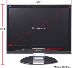 28 Viewsonic VX2835WM 16 10 1920x1200 HDMI LCD Monitor RCA 1080p HD