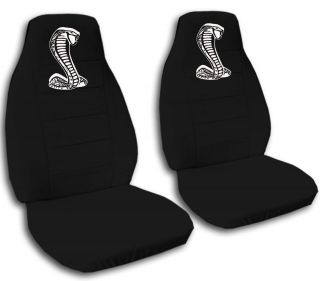 94 04 Ford Mustang Front Car Seat Covers with White Cobra Design