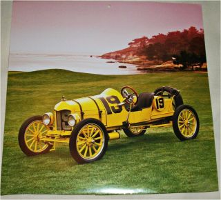 1919 Ford Model T Speedster Car Print Yellow