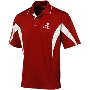 Alabama Crimson Roll Tide PGA Tour Moisture Wicking Polo Golf Red