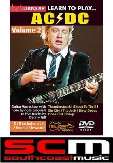 RRP 60 LICK LIBRARY LEARN TO PLAY ACDC GUITAR VOL 2 DVD THUNDERSTRUCK