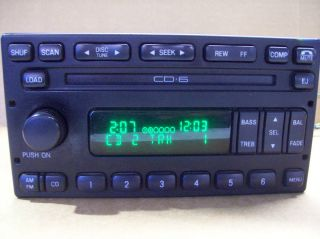 FORD EXCURSION CD 6 DISC PLAYER RADIO STEREO 4C7T18C815CA 2001 2002
