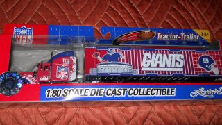 York Giants Diecast Tractor Trailer 1 80 by Fleer Collectibles