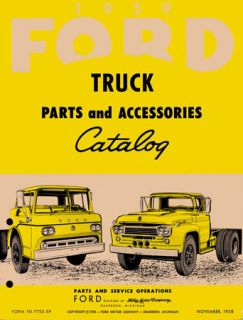 1959 Ford Truck Parts Book List Guide Catalog Manual