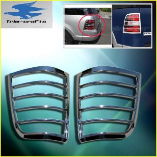 06 11 Ford Explorer SUV Chrome Tail Light Trims Bezels Covers Accent