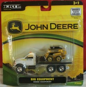 Ertl John Deere Big Equipment Bob Cat on Truck Set