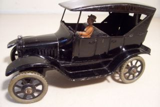 GERMAN BING TIN WIND UP CLOCKWORK FORD MODEL T TOURING CAR VEHICLE TOY