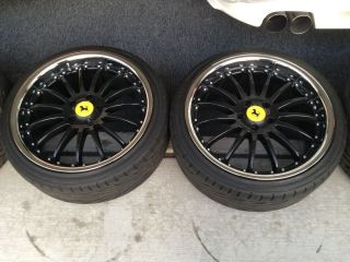 Ferrari 360 430 Modena Spyder Custom Wheels Rims + LIKE NEW Tires Set