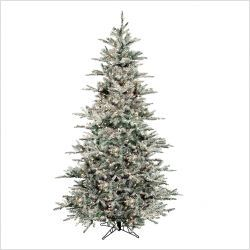 Prelit Flocked Vail Artificial Christmas Tree OUR SKU# RGI1058