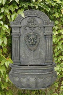 Imperial Lion Outdoor Wall Water Fountain Yard and Garden Decor French