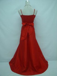 Red Lace Prom Ball Long Bridesmaid Wedding Evening Gown Dress