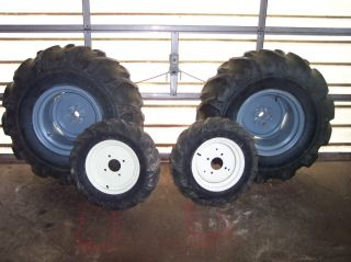 Tires on Wheels with Hubs for Yanmar YM180 187 Four Wheel Drive