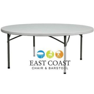 New 60 Round Commercial Lightweight Plastic Folding Table