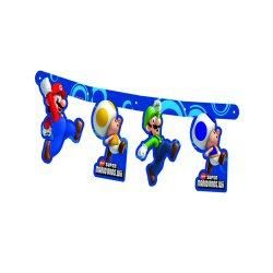 super mario bros wii party birthday jointed banner £ 3 49