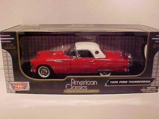 1956 Ford Thunderbird Coupe Diecast Toy Model Car 1 18 Motormax Box