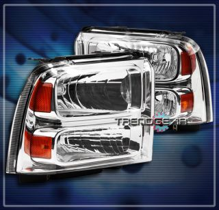 05 06 07 Ford Super Duty Excursion Crystal Headlights Chrome F250 F350