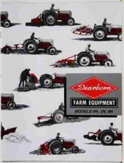 beautiful full photo two color ford 9n 2n 8n farm tractor dearborn